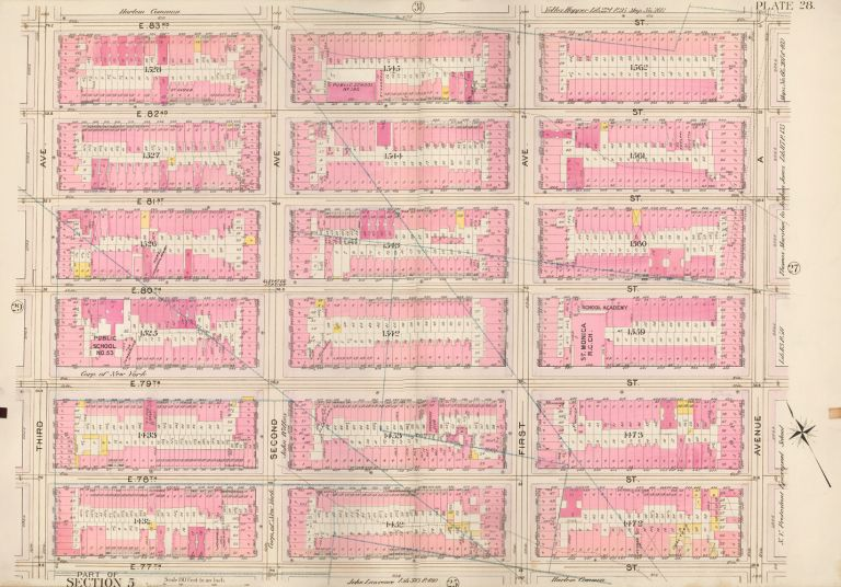 Section 5: Plate 28. Atlas of the City of New York. Bromley, GW Bromley, Co.