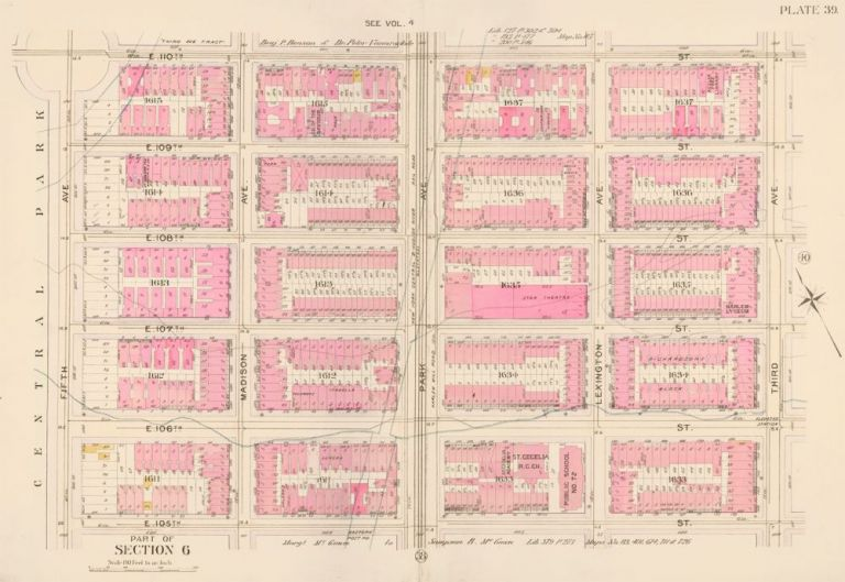 Section 6: Plate 39. Atlas of the City of New York. Bromley, GW Bromley, Co.