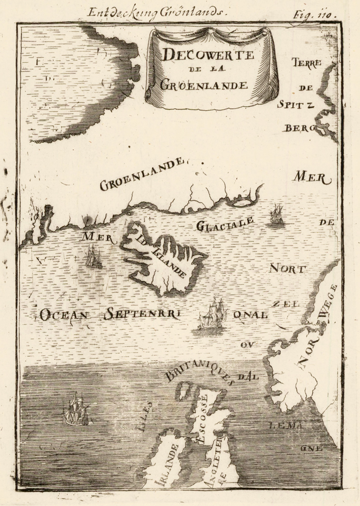 Map of Greenland. Description de l'Univers. Allain Manesson Mallet.