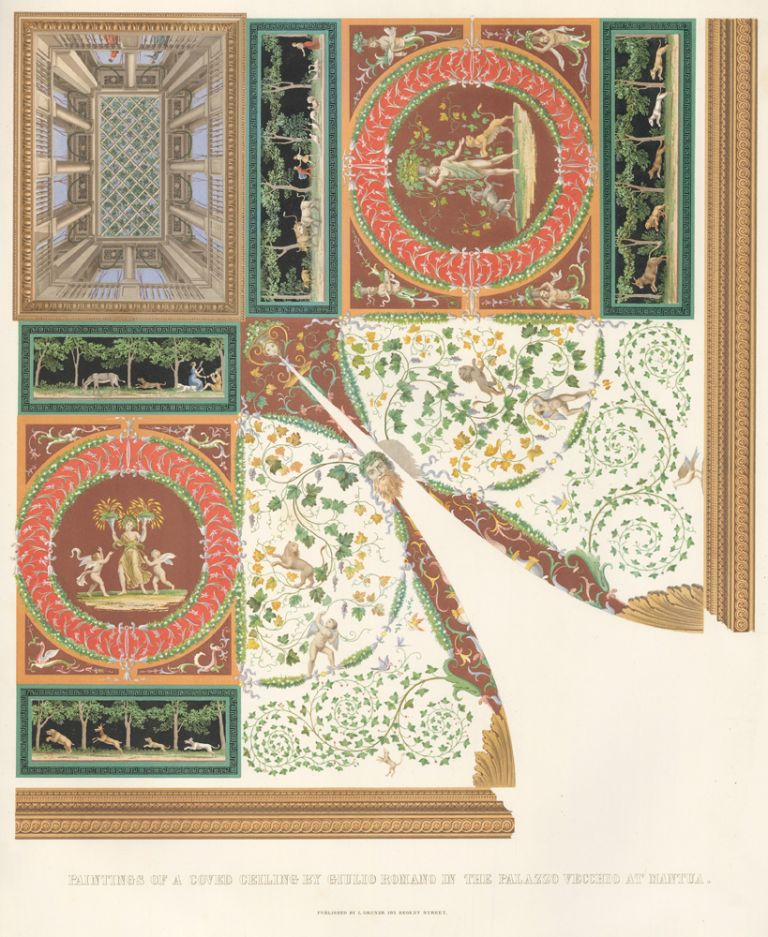 Paintings of a Coved Ceiling. Specimens of Ornamental Art. Lewis Gruner.
