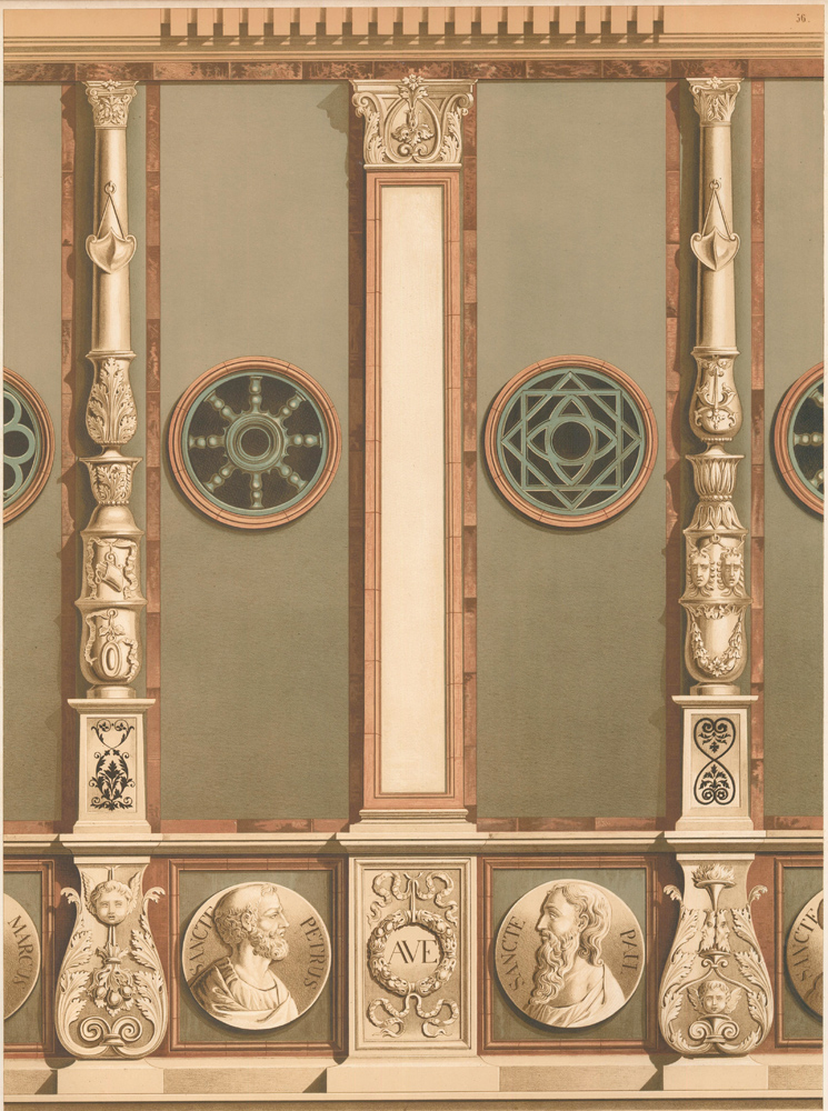 External Enrichment in Stone and Terra Cotta. Specimens of Ornamental Art. Lewis Gruner.