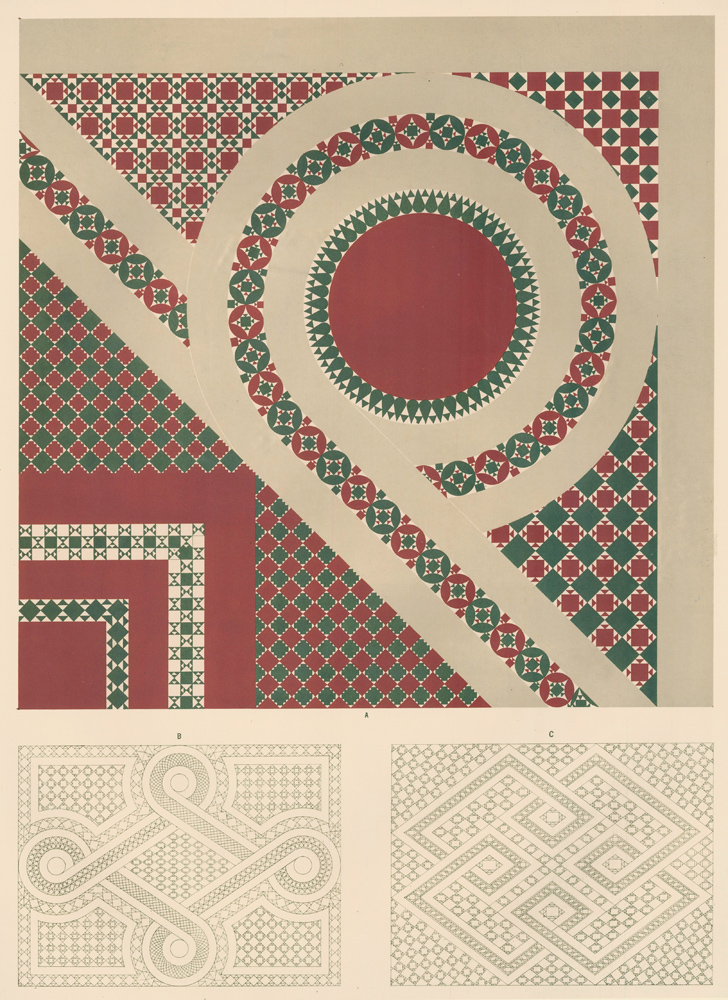 Tesselated Pavements from the Earliest Christian Churches at Rome. Specimens of Ornamental Art. Lewis Gruner.