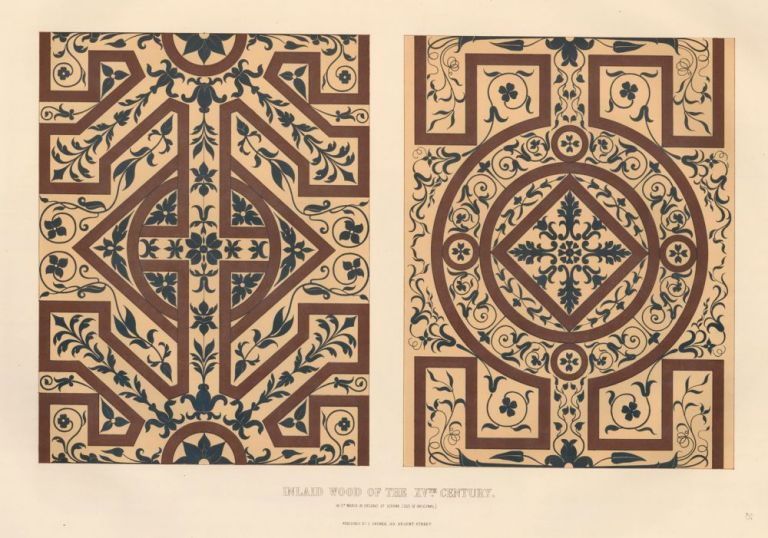 Inlaid Wood of the XVth Century. Specimens of Ornamental Art. Lewis Gruner.