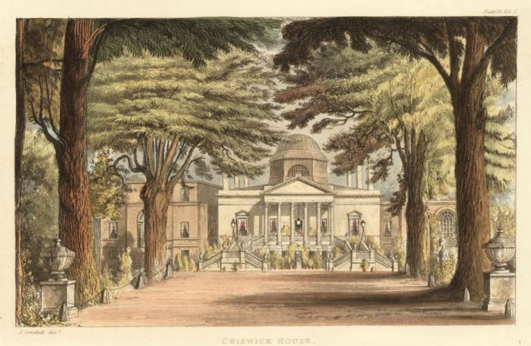 Chiswick House. Ackermann's Repository of Arts &c. Rudolph Ackermann.