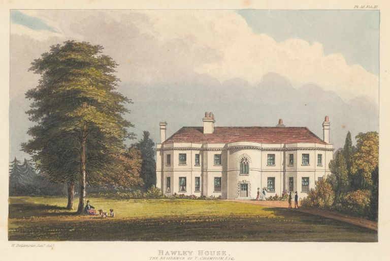 Hawley House. Ackermann's Repository of Arts &c. Rudolph Ackermann.