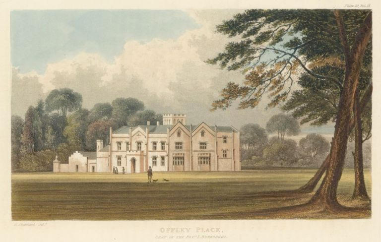 Offley Place. Ackermann's Repository of Arts &c. Rudolph Ackermann.
