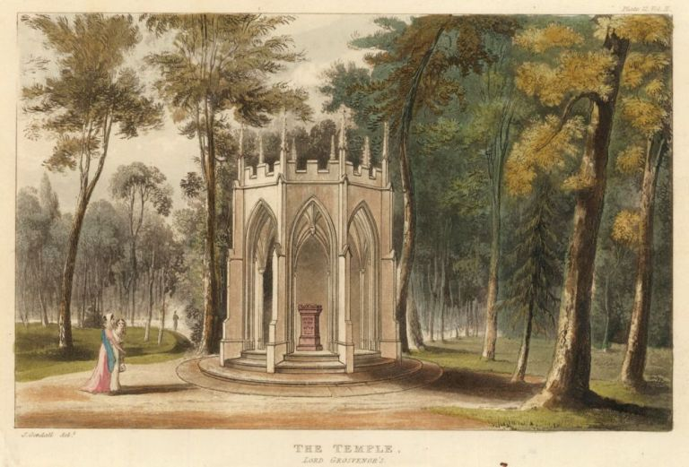 The Temple, Lord Grosvenor's. Ackermann's Repository of Arts &c. Rudolph Ackermann.
