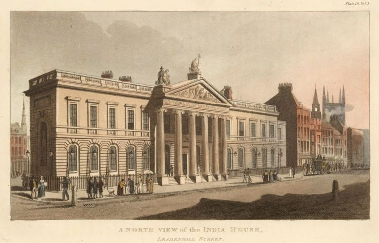 A North View of the India House. Ackermann's Repository of Arts &c. Rudolph Ackermann.