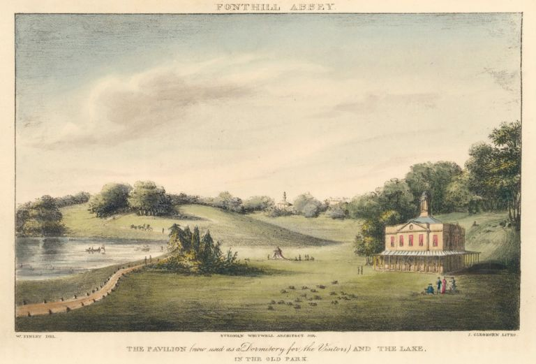 Fonthill Abbey, the Pavilion and the Lake. Ackermann's Repository of Arts &c. Rudolph Ackermann.