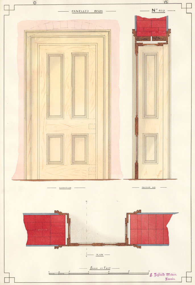 Panelled Door. F. Reginald Watson.