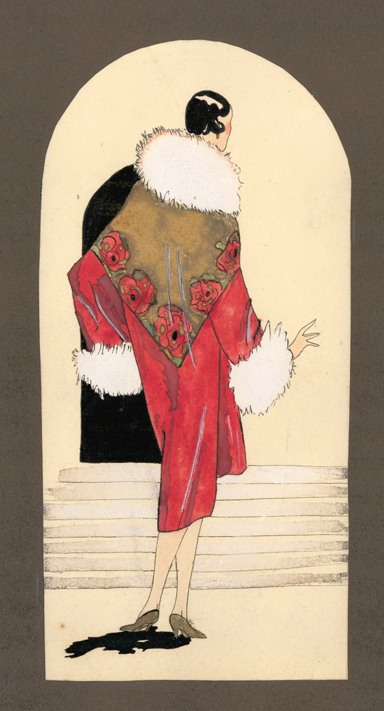Woman in a Red Robe. Unknown artist.