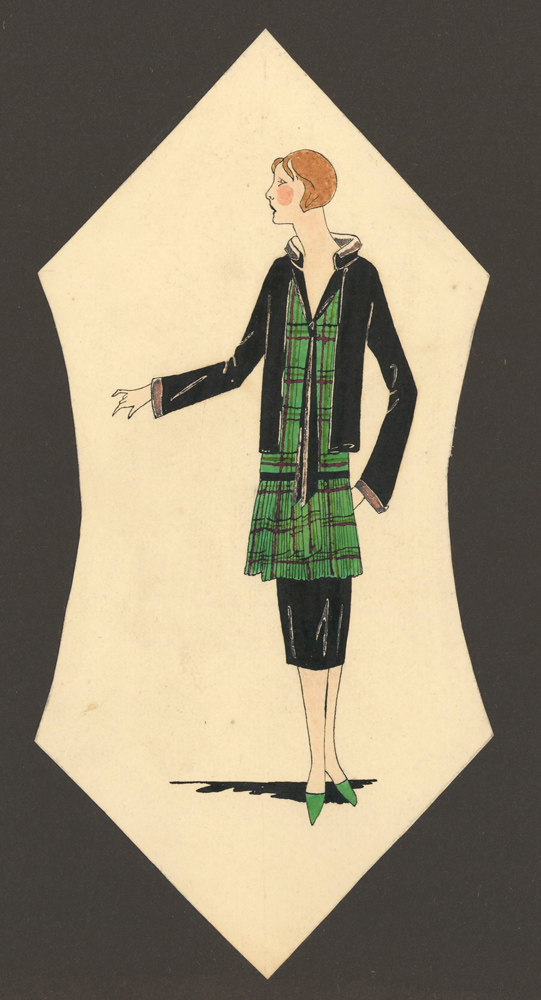 Woman in Plaid. Unknown artist.