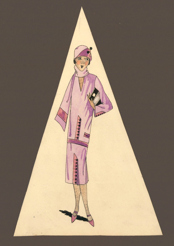 Lady in Lilac. Unknown artist.