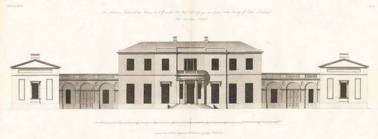 The Entrance Front of the House & Offices of the Reverend Doctor Synge at Lislee, in the County of Cork, Ireland. The New Vitruvius Britannicus; Consisting of Plans and Elevations of Modern Buildings, Public and Private, Erected in Great Britain by the M. George Richardson.