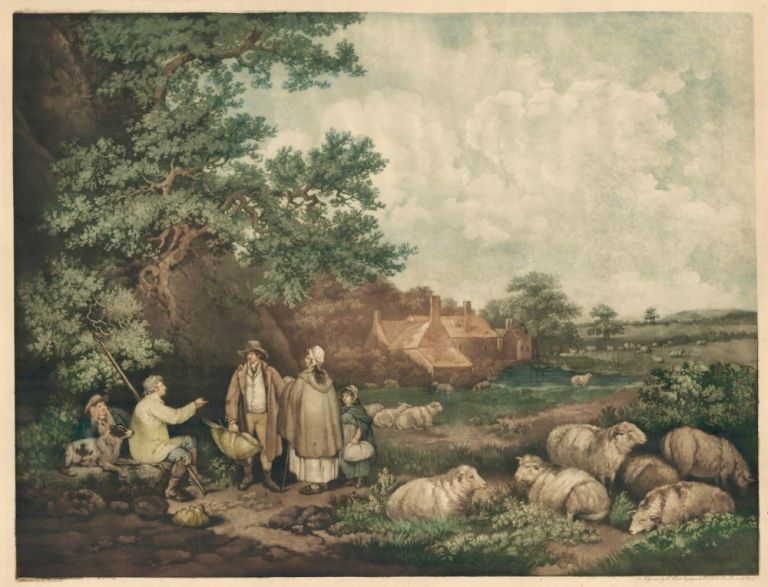 The Shepherds. George Morland, after.