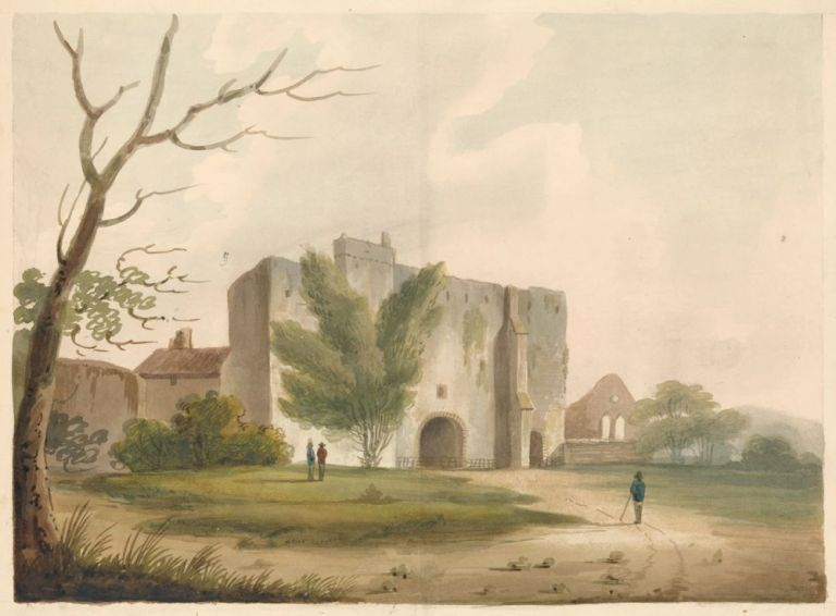 Castle Ruins in Northern England or Wales. James Renwick.
