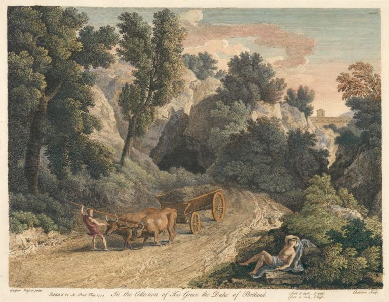 In the Collection of His Grace the Duke of Portland. Jean Baptiste after Gaspar Poussin Chatelain, Gas, European views, Knapton and Pond.