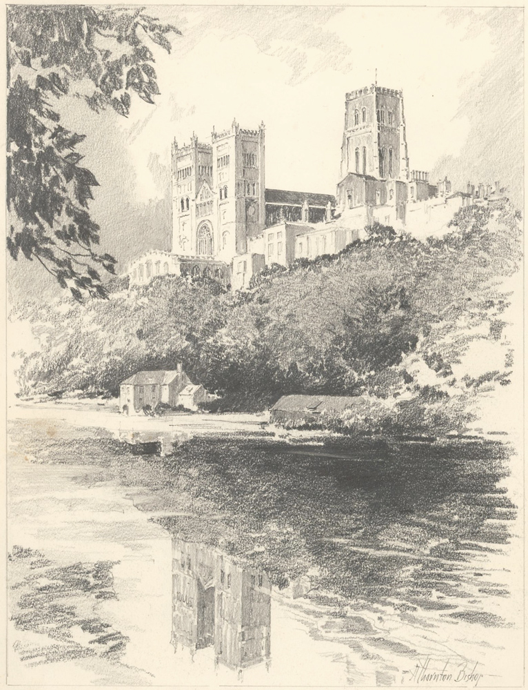 View along the Thames. Original drawings for Renaissance Architecture of England. Albert Thornton Bishop.