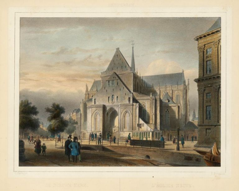 De Nieuwe Kerk [Church in Amsterdam, located on Dam Square, next to the Royal Palace]. Theodore Fourmois.