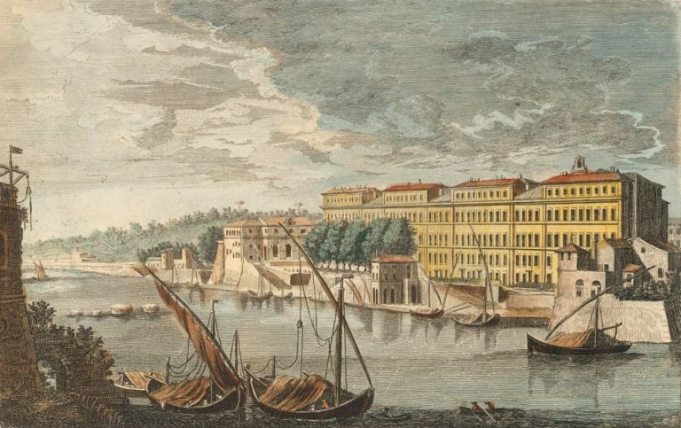 View of Neva River, in St. Petersburg, from Peter and Paul Fortress [Russia]. Unknown.