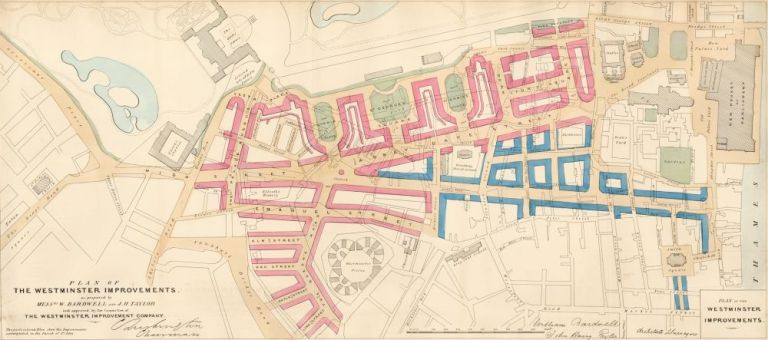 Plan of Westminster Improvements. Report on Metropolis Improvements. W. Bardwell, J. H. Taylor.