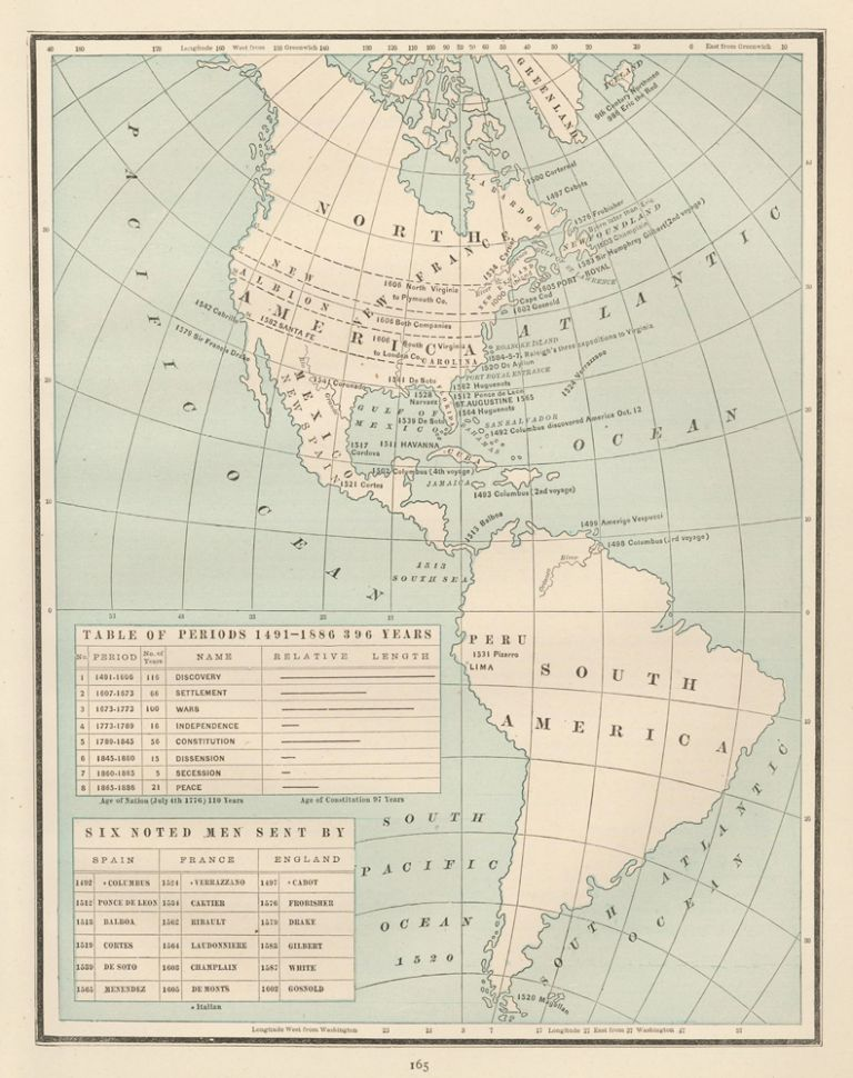 The Americas [1491-1886]. Cram's Unrivaled Atlas of the World. George Franklin Cram.