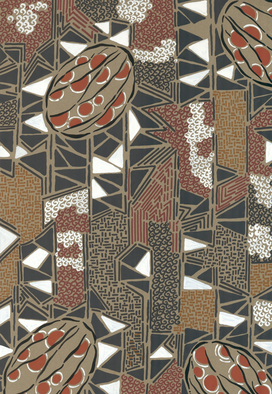 """""""Coffee beans"""" on a geometric background. Jacques Laplace."""