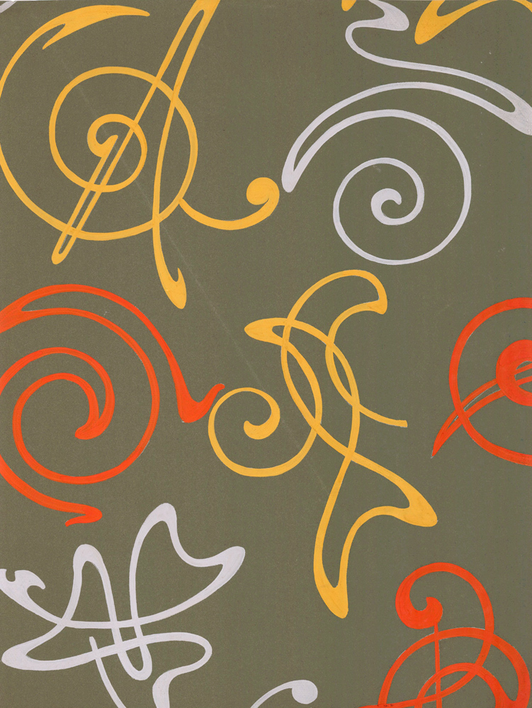 An Etude in Silver, Orange, and Gold. Jacques Laplace.