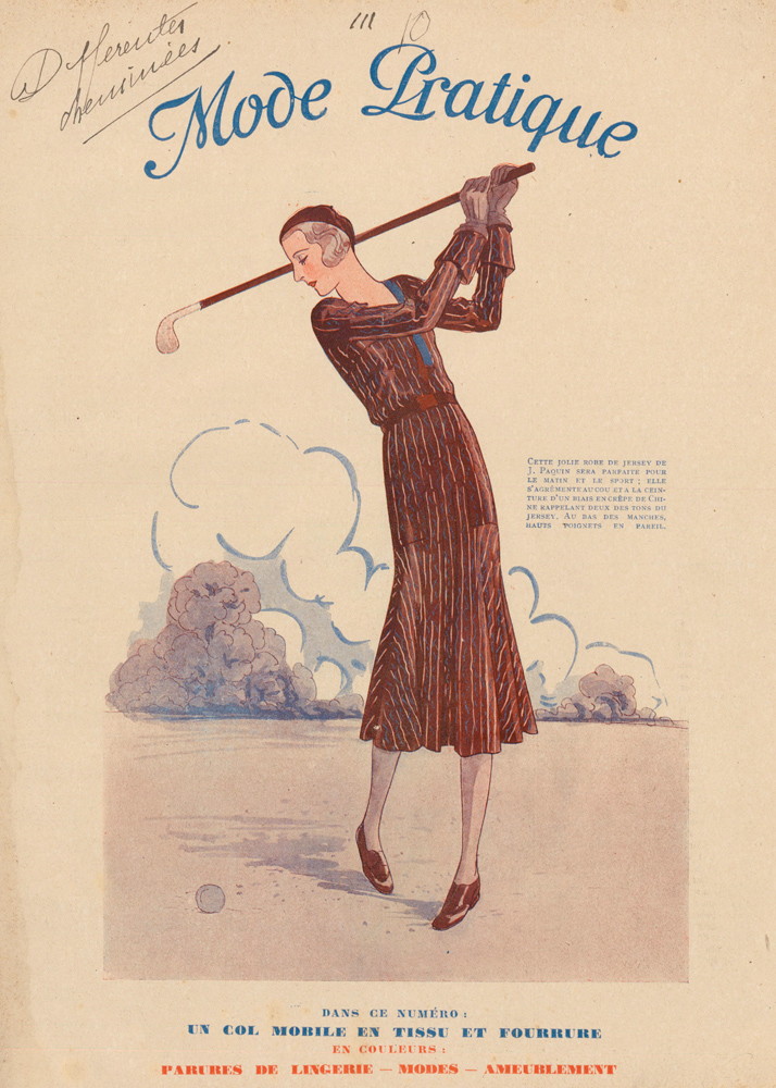 Golfing Fashion. La Mode Pratique. Madame C. de Broutelles, La Mode Pratique.