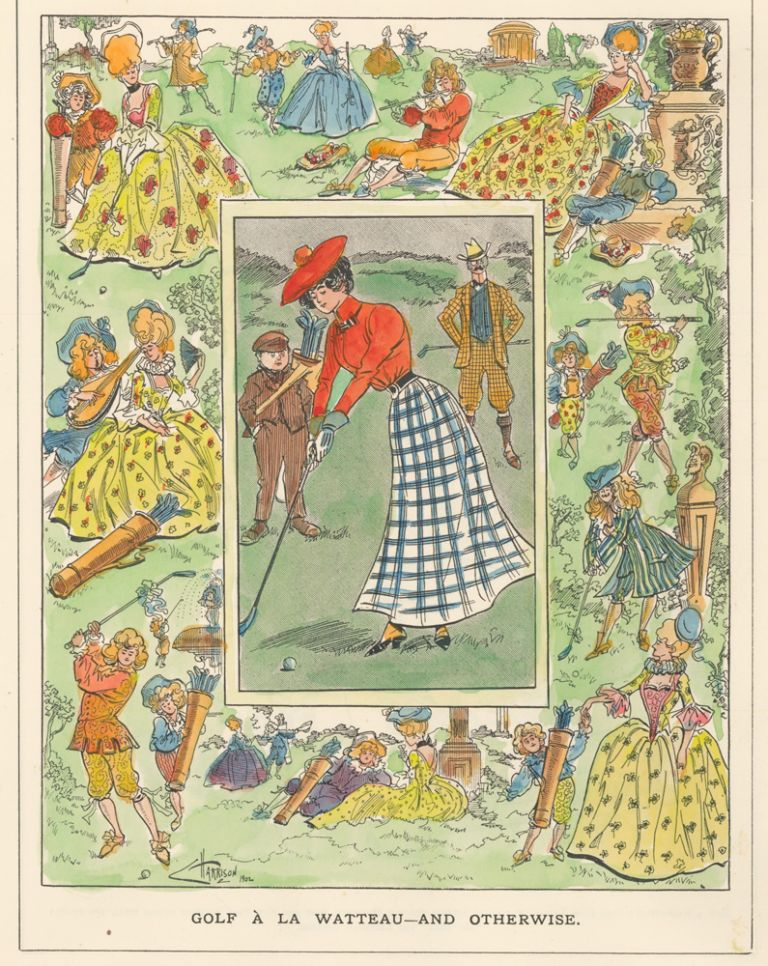 Golf a la Watteau--And Otherwise. Punch, or The London Charivari. C. Harrison, Punch, The London Charivari.