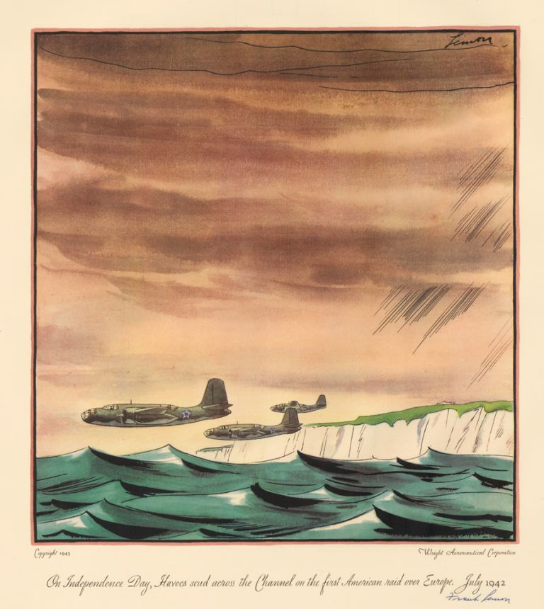 On Independence Day, Havocs scud across the Channel on the first American raid over Europe, July 1924. A Gallery of Air Power: Wright-Powered 'Firsts' in World War II. Frank Lemon.