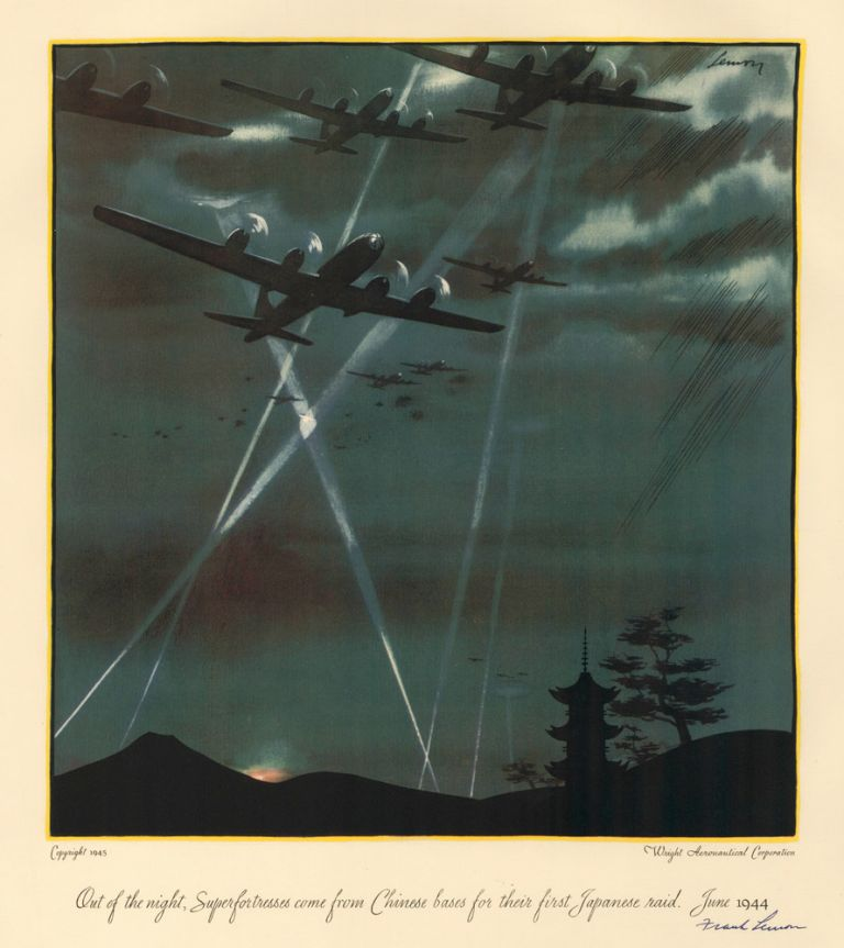 Out of the night, Superfortresses come from Chinese bases for their first Japanese raid, June 1944. A Gallery of Air Power: Wright-Powered 'Firsts' in World War II. Frank Lemon.