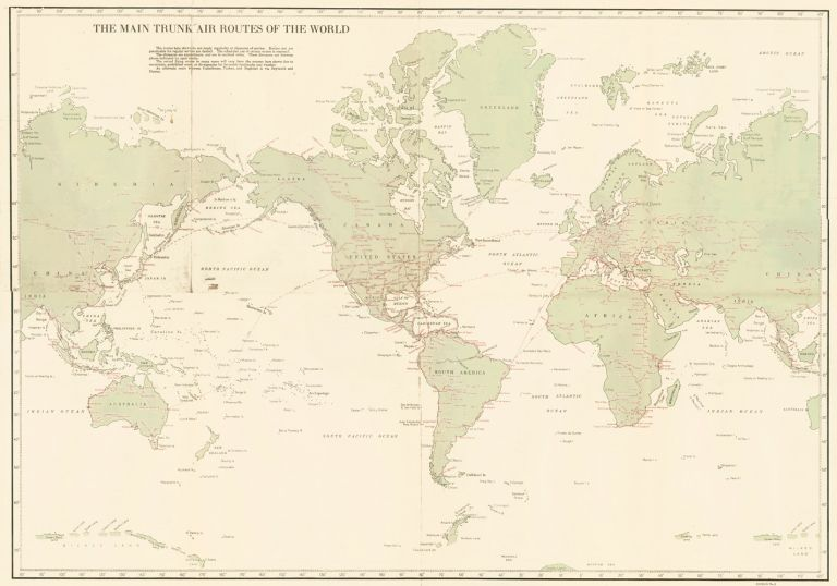 The Main Trunk Air Routes of the World. U S. Coast Guard.