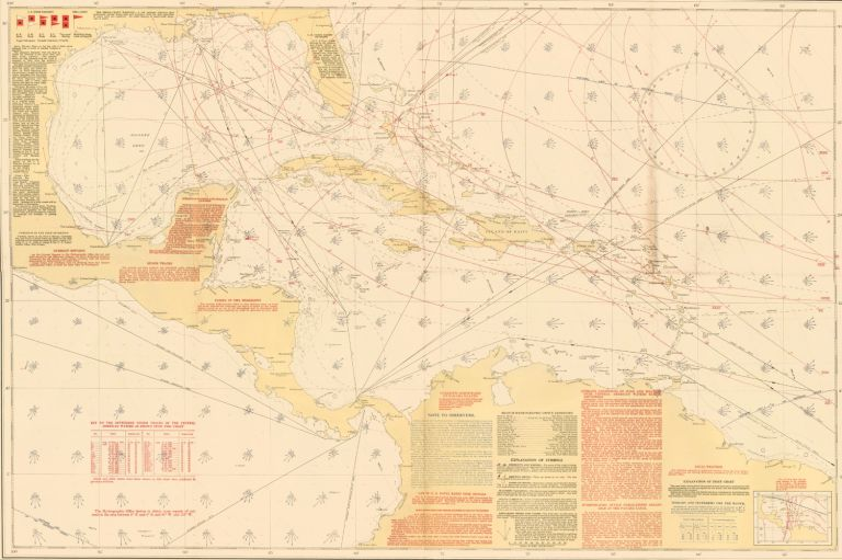 Pilot Chart of the Central American Waters. U S. Navy.