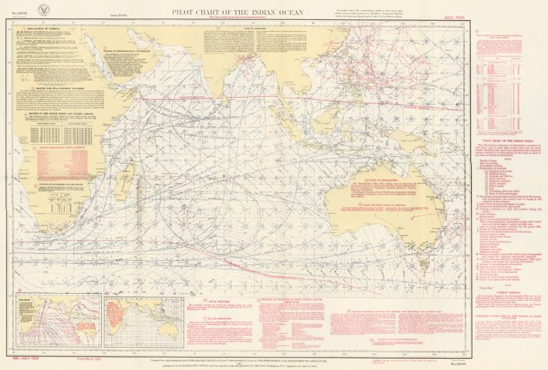 Pilot Chart of the Indian Ocean. U S. Navy.