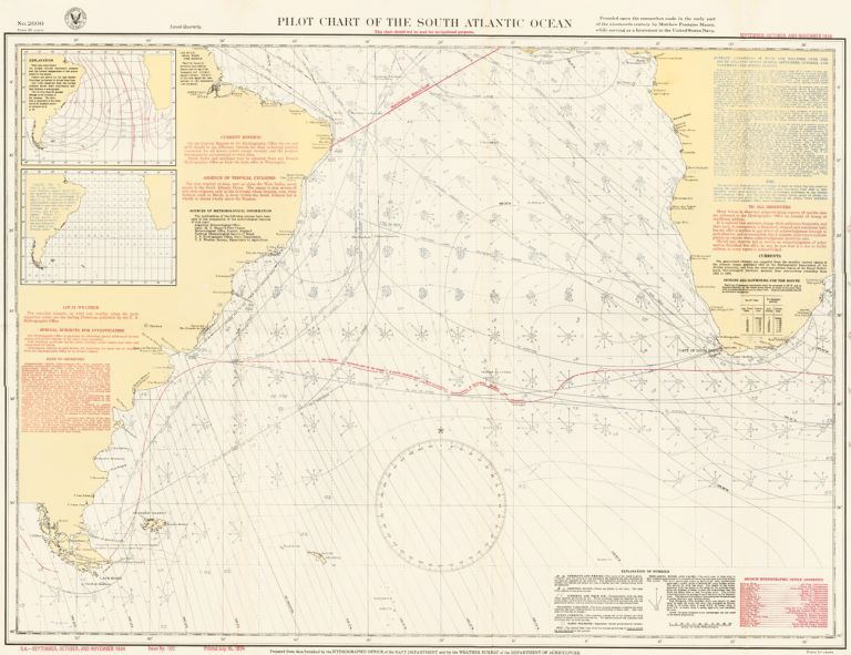 Pilot Chart of the South Atlantic Ocean. U S. Navy.