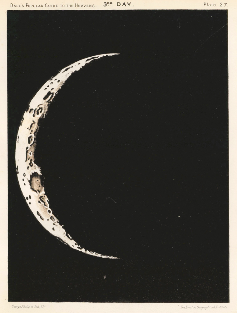 3rd Day Moon. A Popular Guide to the Heavens. Robert Stawell Ball.