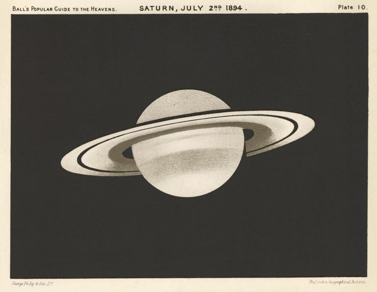 Saturn, July 2nd, 1894. A Popular Guide to the Heavens. Robert Stawell Ball.