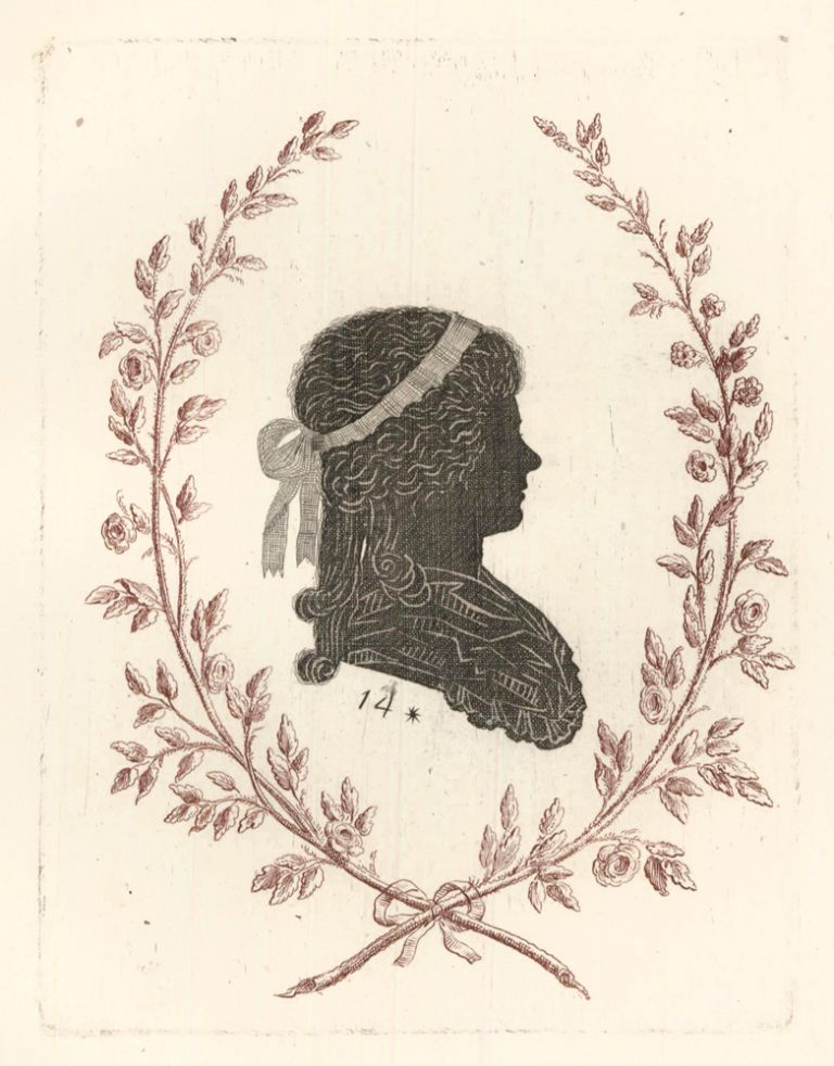 Duchess of Devonshire, London. Collection de Cent Silhouettes des Personnes Illustres et Célèbres. Johann Friedrich Anthing.