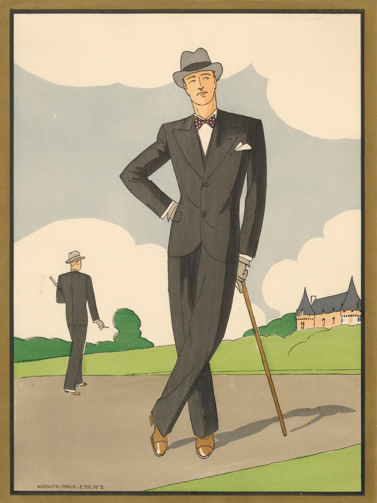 No. 2. Men's Fashion. L'Homme Chic. French School, L'Homme Chic.