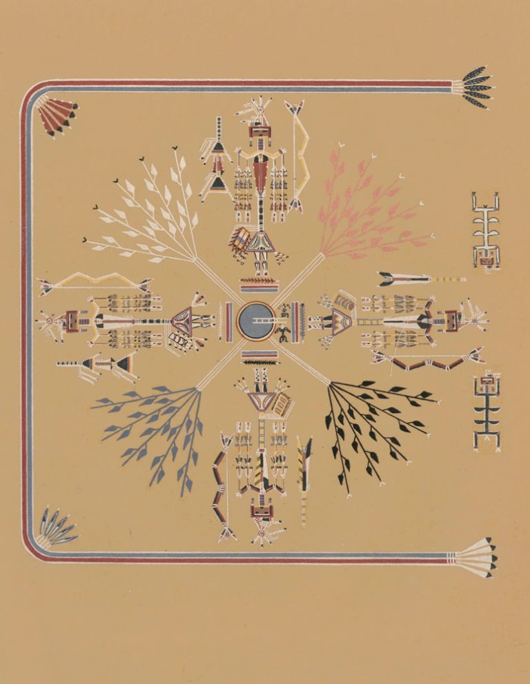 The Feathered Arrow People (Shooting Chant). Navajo Medicine Man: Sandpaintings and Legends of Miguelito. Gladys A. Reichard, J. J. Augustin.