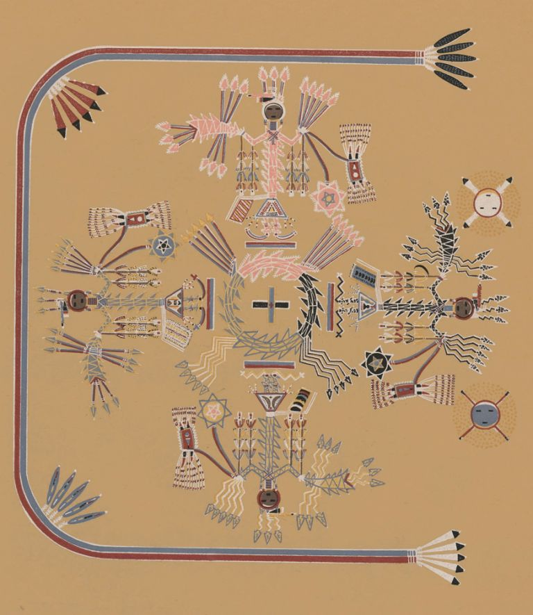 The House-of-moving-points (Shooting Chant). Navajo Medicine Man: Sandpaintings and Legends of Miguelito. Gladys A. Reichard, J. J. Augustin.