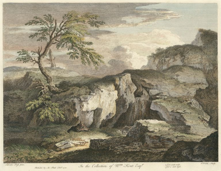 In the Collection of William Kent Esquire. Joseph after Salvator Rosa Wood, Joseph after Gaspar Poussin Wood, European views, Knapton and Pond, Gaspard Dughet.