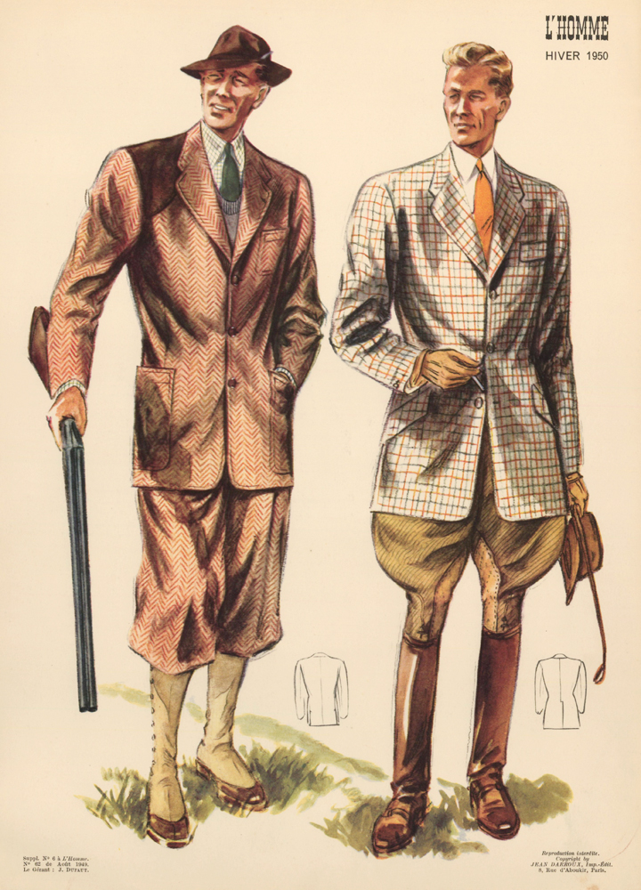 Hunting Outfits. L'Homme. J. Dufaut, Jean Darroux.
