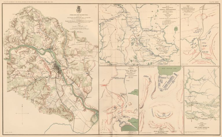 Fredericksburg, Sioux Expedition, Dalton, and Dry Fork. Atlas to Accompany the Official Records of the Union and Confederate Armies. The United States War Department.