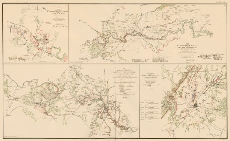 Jackson, Chancelorsville, and Gettysburg Campaign. Atlas to Accompany the Official Records of the Union and Confederate Armies. The United States War Department.