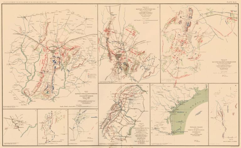Gettysburg Campaign, Atlanta Campaign, and Rio Grande Expedition. Atlas to Accompany the Official Records of the Union and Confederate Armies. The United States War Department.