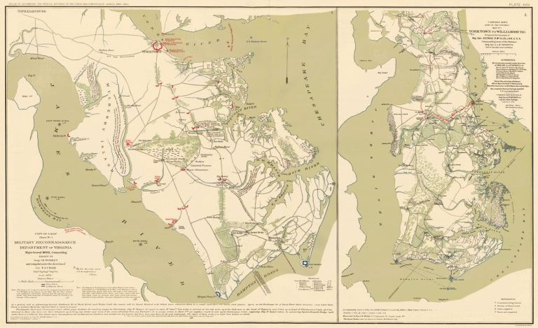 Peninsular Campaign. Atlas to Accompany the Official Records of the Union and Confederate Armies. The United States War Department.