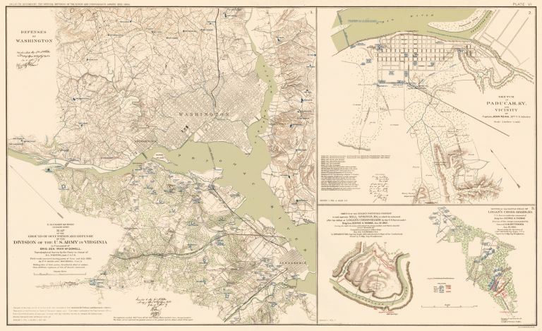 Washington D. C., Padacuh, Logan's Cross Roads and Mill Springs. Atlas to Accompany the Official Records of the Union and Confederate Armies. The United States War Department.