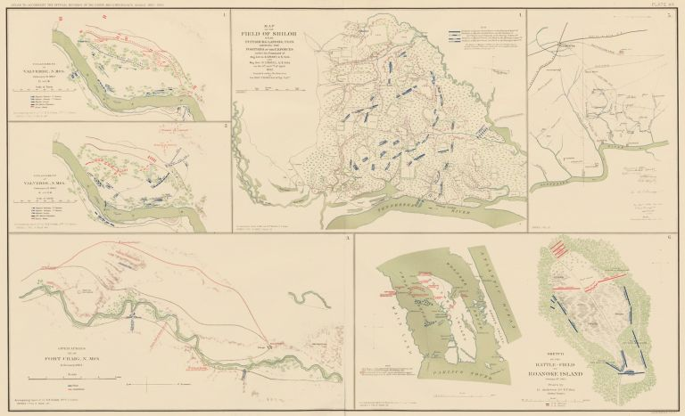 Valverde, Fort Craig, Shiloh, Corinth to Pittsburg Landing, and Roanoke Island. Atlas to Accompany the Official Records of the Union and Confederate Armies. The United States War Department.